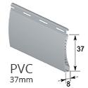 PVC 37mm - Grau - RAL 7040