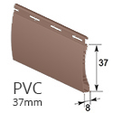 PVC 37mm - Braun - RAL 8002