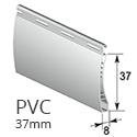 PVC 37mm - Weiß - RAL 9016